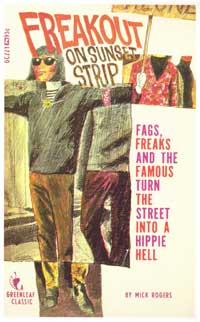 Freak Out On Sunset Strip - 11 x 17 Retro Book Cover Poster