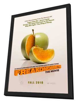 Freakonomics - 11 x 17 Movie Poster - Style A - in Deluxe Wood Frame