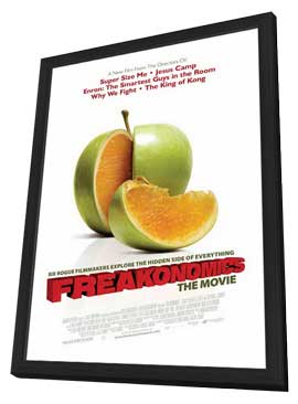 Freakonomics - 27 x 40 Movie Poster - Style A - in Deluxe Wood Frame