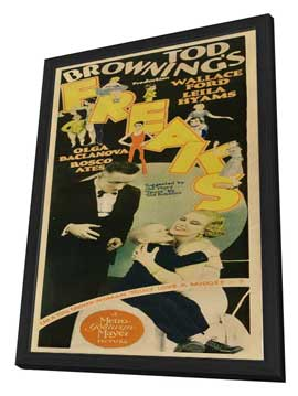 Freaks - 14 x 36 Movie Poster - Insert Style A - in Deluxe Wood Frame