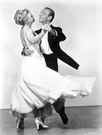 Fred Astaire - Fred Astaire and Ginger Rogers Dancing in White Dress and Black Suit
