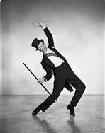 Fred Astaire - Fred Astaire Dancing in Black Top Hat and White Tie