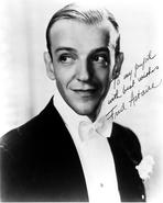 Fred Astaire - Fred Astaire Portrait in Signature