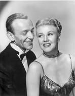 Fred Astaire - Fred Astaire and Ginger Rogers smiling in Black and White Portrait