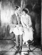 Fred Astaire - Fred Astaire Seated with Woman in Dress