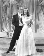 Fred Astaire - Fred Astaire with Woman in Dress Black and White