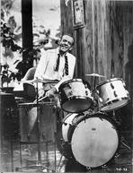 Fred Astaire - Fred Astaire Playing Drums in Shirt Black and White