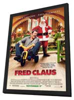 Fred Claus - 27 x 40 Movie Poster - Style C - in Deluxe Wood Frame