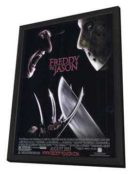 Freddy Vs. Jason - 11 x 17 Movie Poster - Style B - in Deluxe Wood Frame