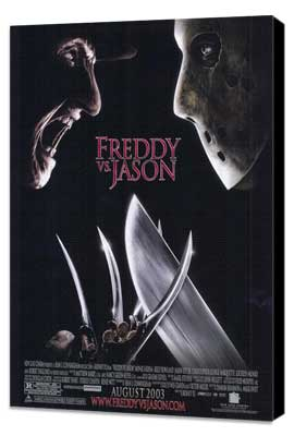 Freddy Vs. Jason - 11 x 17 Movie Poster - Style B - Museum Wrapped Canvas