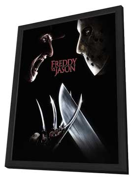 Freddy Vs. Jason - 27 x 40 Movie Poster - Style D - in Deluxe Wood Frame