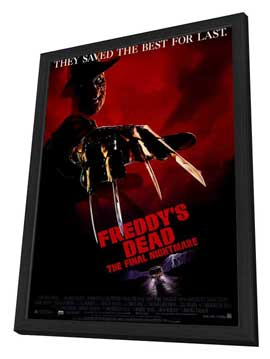 Freddy's Dead: The Final Nightmare - 27 x 40 Movie Poster - Style A - in Deluxe Wood Frame