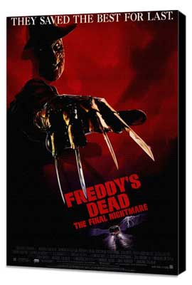 Freddy's Dead: The Final Nightmare - 27 x 40 Movie Poster - Style A - Museum Wrapped Canvas