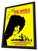 Free Angela & All Political Prisoners - 27 x 40 Movie Poster - French Style A - in Deluxe Wood Frame