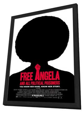 Free Angela & All Political Prisoners - 11 x 17 Movie Poster - Style A - in Deluxe Wood Frame