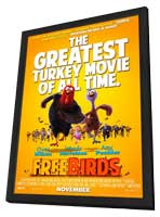 Free Birds - 27 x 40 Movie Poster - Style C - in Deluxe Wood Frame