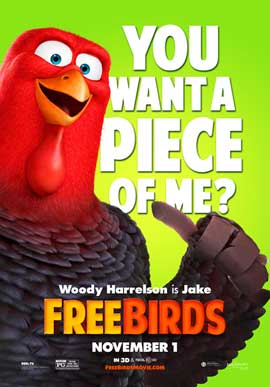 Free Birds - 11 x 17 Movie Poster - Style D
