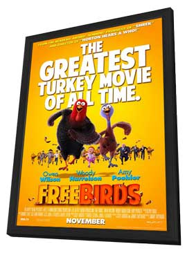 Free Birds - 11 x 17 Movie Poster - Style C - in Deluxe Wood Frame