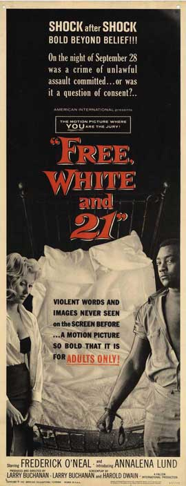 Free, White, and 21 - 14 x 36 Movie Poster - Insert Style A