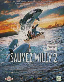 Free Willy 2: The Adventure Home - 11 x 17 Movie Poster - French Style A