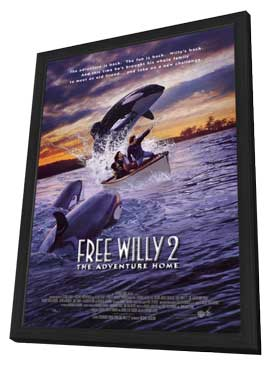 Free Willy 2: The Adventure Home - 27 x 40 Movie Poster - Style B - in Deluxe Wood Frame