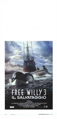 Free Willy 3: The Rescue - 13 x 28 Movie Poster - Italian Style A