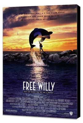 Free Willy - 27 x 40 Movie Poster - Style A - Museum Wrapped Canvas