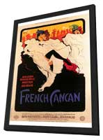 French Can-Can - 27 x 40 Movie Poster - Style A - in Deluxe Wood Frame