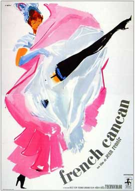 French Can-Can - 11 x 17 Movie Poster - Italian Style A