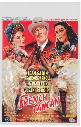 French Can-Can - 11 x 17 Movie Poster - Belgian Style A