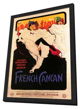 French Can-Can - 11 x 17 Movie Poster - Style A - in Deluxe Wood Frame