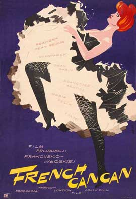 French Cancan - 27 x 40 Movie Poster - Spanish Style A