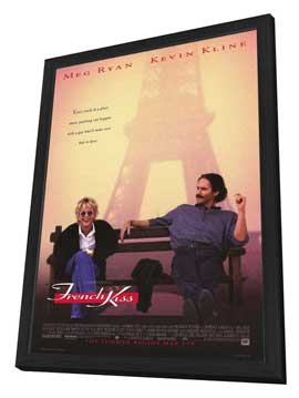 French Kiss - 27 x 40 Movie Poster - Style A - in Deluxe Wood Frame