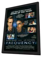 Frequency - 11 x 17 Movie Poster - Style D - in Deluxe Wood Frame