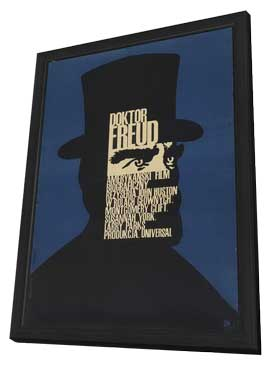 Freud - 11 x 17 Movie Poster - Polish Style A - in Deluxe Wood Frame