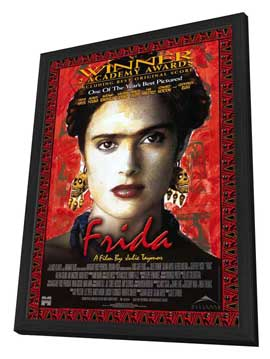 Frida - 27 x 40 Movie Poster - Style A - in Deluxe Wood Frame