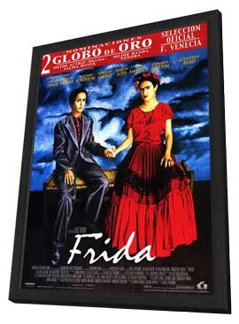 Frida - 11 x 17 Movie Poster - Spanish Style A - in Deluxe Wood Frame