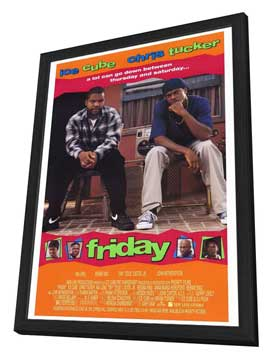 Friday - 11 x 17 Movie Poster - Style A - in Deluxe Wood Frame
