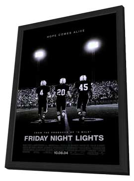 Friday Night Lights - 27 x 40 Movie Poster - Style B - in Deluxe Wood Frame