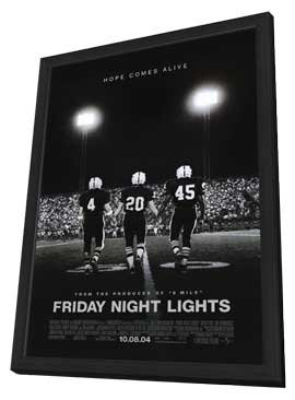 Friday Night Lights - 11 x 17 Movie Poster - Style B - in Deluxe Wood Frame