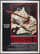Friday the 13th - 11 x 17 Movie Poster - French Style A