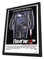 Friday the 13th - 27 x 40 Movie Poster - Style A - in Deluxe Wood Frame