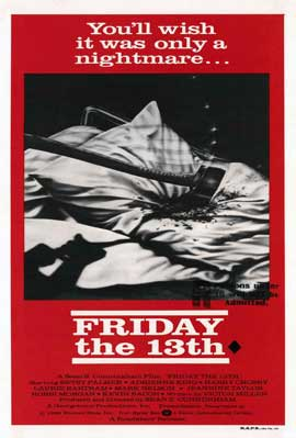 Friday the 13th - 11 x 17 Movie Poster - Australian Style A