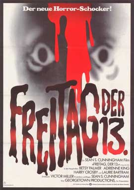 Friday the 13th - 11 x 17 Movie Poster - German Style A