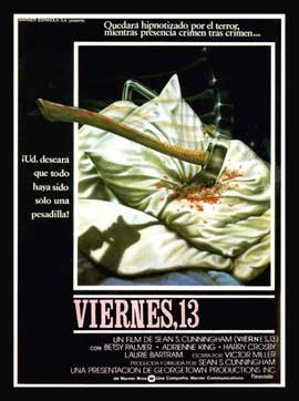 Friday the 13th - 11 x 17 Movie Poster - Spanish Style A