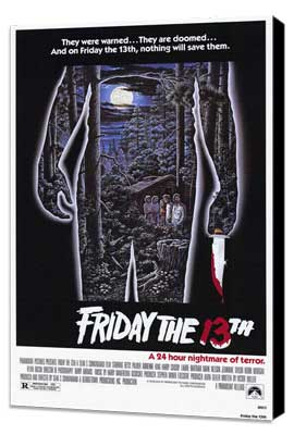 Friday the 13th - 11 x 17 Movie Poster - Style A - Museum Wrapped Canvas