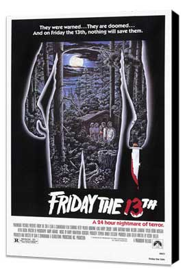 Friday the 13th - 27 x 40 Movie Poster - Style A - Museum Wrapped Canvas