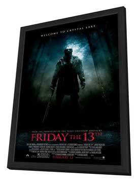 Friday the 13th - 11 x 17 Movie Poster - Style C - in Deluxe Wood Frame