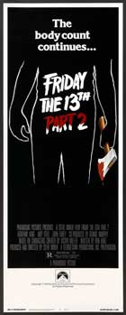 Friday the 13th, Part 2 - 14 x 36 Movie Poster - Insert Style A