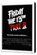 Friday the 13th, Part 2 - 27 x 40 Movie Poster - Style A - Museum Wrapped Canvas